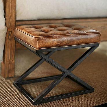 Мебель ручной работы. Ярмарка Мастеров - ручная работа Пуф, табуретка в стиле лофт. Handmade.