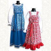 Русский стиль handmade. Livemaster - original item Dress with blouse Dunyasha. Handmade.