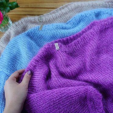 Одежда ручной работы. Ярмарка Мастеров - ручная работа Вязаный пуловер из мохера. Handmade.