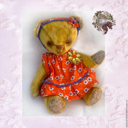 Мишки Тедди ручной работы. Ярмарка Мастеров - ручная работа. Купить Сонечка. Handmade. Тедди мишка, мишка, гранулят металлический