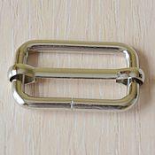 Фурнитура для сумок ручной работы. Ярмарка Мастеров - ручная работа Шлевка WS 30 мм никель (4 мм). Handmade.