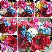 """Цветы и флористика ручной работы. Ярмарка Мастеров - ручная работа Букет в кувшине """"Маковая страсть"""". Handmade."""