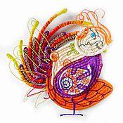 Картины и панно ручной работы. Ярмарка Мастеров - ручная работа Птица Сирин. Handmade.