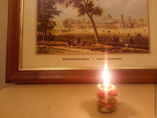 Свечи ручной работы. Ярмарка Мастеров - ручная работа. Купить Свечи из натурального воска Разноцветные миниатюры. Handmade. Оранжевый