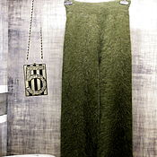 Одежда handmade. Livemaster - original item Mink down trousers - khaki. Handmade.