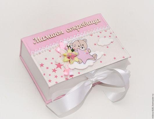 Подарки для новорожденных, ручной работы. Ярмарка Мастеров - ручная работа. Купить Мамины сокровища. Handmade. Бледно-розовый, подарок