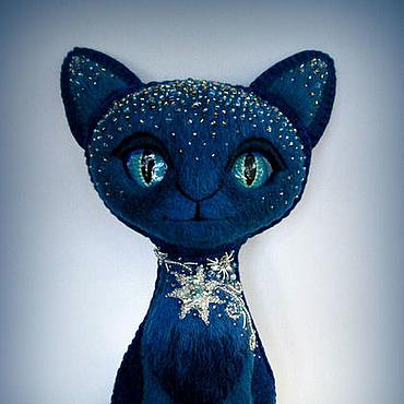 Куклы и игрушки ручной работы. Ярмарка Мастеров - ручная работа Игрушка Кошка. Колкие звёзды. Handmade.