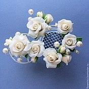 Свадебный салон handmade. Livemaster - original item Set of pins with ivory roses for a wedding hairstyle. Handmade.