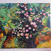 """Картины и панно ручной работы. Ярмарка Мастеров - ручная работа Картина маслом """"Розовый куст"""". Handmade."""