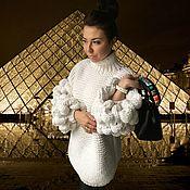 Одежда handmade. Livemaster - original item Beautiful women`s sweater with oversized sleeves. Handmade.