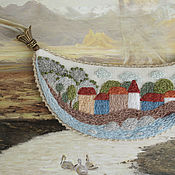 Украшения handmade. Livemaster - original item Necklace River mountain Town. Embroidery. Handmade.