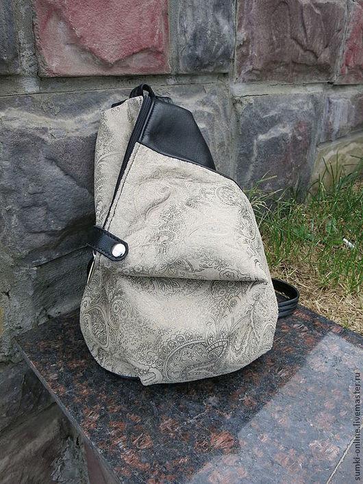 Женские сумки ручной работы. Ярмарка Мастеров - ручная работа. Купить Кожаный рюкзачок для Ольги. Handmade. Пейсли, рюкзак