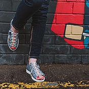Обувь ручной работы. Ярмарка Мастеров - ручная работа Кеды открытые 13-317-s25  (СБ). Handmade.