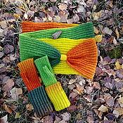 Аксессуары handmade. Livemaster - original item Kit Snood fingerless gloves Autumn. Handmade.