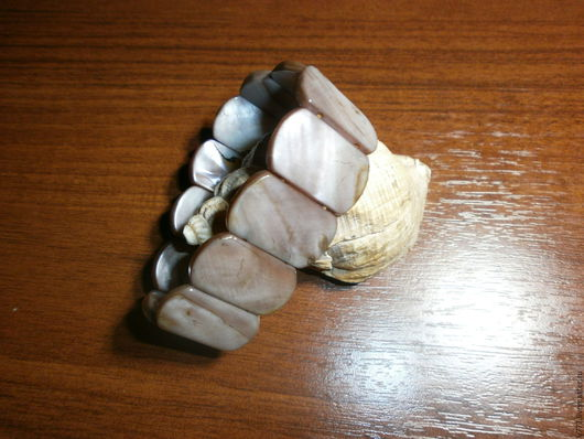 """Браслеты ручной работы. Ярмарка Мастеров - ручная работа. Купить Браслет-талисман """" Морской блюз-2"""" -перламутр аболонский натуральный.. Handmade."""