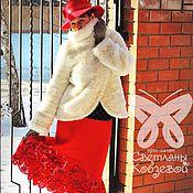 """Одежда ручной работы. Ярмарка Мастеров - ручная работа Юбка """"Зимняя вишня"""". Handmade."""