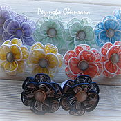 Работы для детей, handmade. Livemaster - original item Elastic bands with a lace flowers of satin ribbon. Handmade.