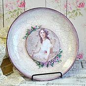 Посуда ручной работы. Ярмарка Мастеров - ручная работа Тарелка декоративная Старинный фарфор. Handmade.