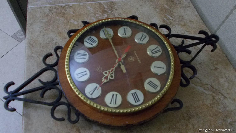 b29c65f66a Vintage Interior Decor Livemaster Handmade Wall Clock Amber Quartz. Wall  Clock Amber Quartz Vintage On Livemaster With