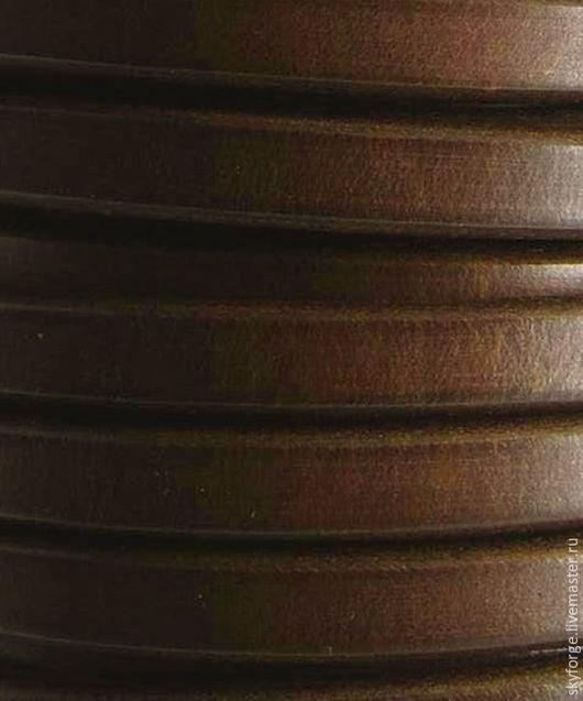 Для украшений ручной работы. Ярмарка Мастеров - ручная работа. Купить Кожаный шнур РЕГАЛИЗ, 10x6 мм, темно-коричневый. Handmade.