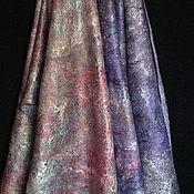 """Аксессуары ручной работы. Ярмарка Мастеров - ручная работа """"Серо-розовый"""" шарфик тонкий валяный. Handmade."""
