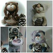 Куклы и игрушки ручной работы. Ярмарка Мастеров - ручная работа Коты и кошки. Handmade.