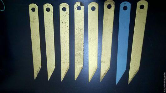 Другие виды рукоделия ручной работы. Ярмарка Мастеров - ручная работа. Купить ножи для шерфования. Handmade. Нож, для кожи