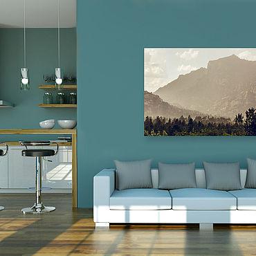Картины и панно ручной работы. Ярмарка Мастеров - ручная работа Картина на холсте Лес и горы. Handmade.