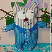 """Куклы и игрушки ручной работы. Ярмарка Мастеров - ручная работа мягкая игрушка """"Пижамный кот"""". Handmade."""