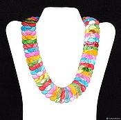 Колье ручной работы. Ярмарка Мастеров - ручная работа Колье  из  разноцветного перламутра. Handmade.