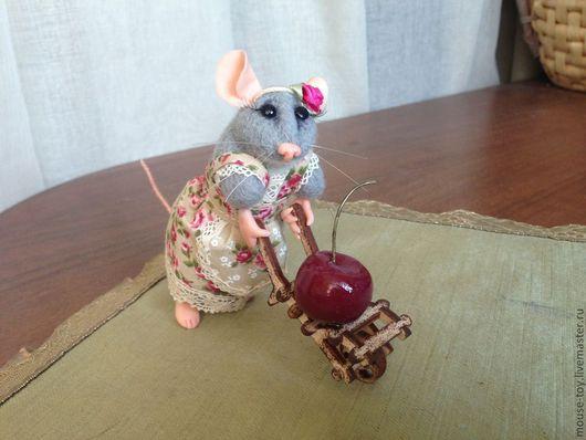 Игрушки животные, ручной работы. Ярмарка Мастеров - ручная работа. Купить Во саду ли, в огороде... Handmade. Бежевый, мышонок