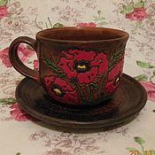 """Чайные пары ручной работы. Ярмарка Мастеров - ручная работа Чайные пары """"Маков цвет"""". Handmade."""