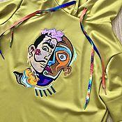 Одежда handmade. Livemaster - original item Sweatshirts: elongated hoodie