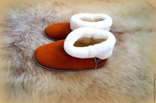 Обувь ручной работы. Ярмарка Мастеров - ручная работа. Купить Чуни из овчины. Handmade. Бежевый, натуральная овчина