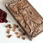 Нарды, шашки ручной работы. Ярмарка Мастеров - ручная работа Нарды из дерева. Handmade.