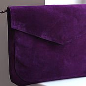Сумки и аксессуары handmade. Livemaster - original item Purple clutch bag art. S189. Handmade.
