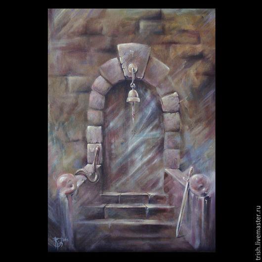 Символизм ручной работы. Ярмарка Мастеров - ручная работа. Купить Системообразующая картина: Двери, которых нет 794. Handmade. Руны, мистика