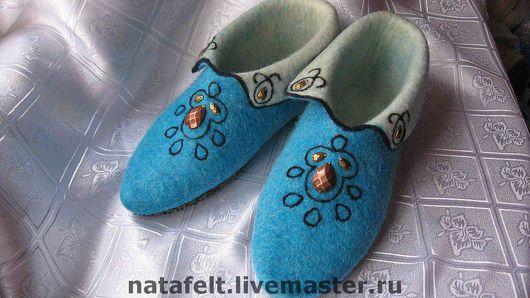 Обувь ручной работы. Ярмарка Мастеров - ручная работа. Купить Домашние туфли. Handmade. Шерсть