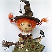Куклы и игрушки ручной работы. Ярмарка Мастеров - ручная работа Осенняя ведьмочка Ханна. Коллекционная кукла. Handmade.