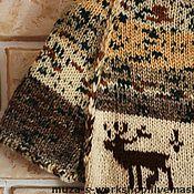 Одежда ручной работы. Ярмарка Мастеров - ручная работа Свитер с оленями. Handmade.