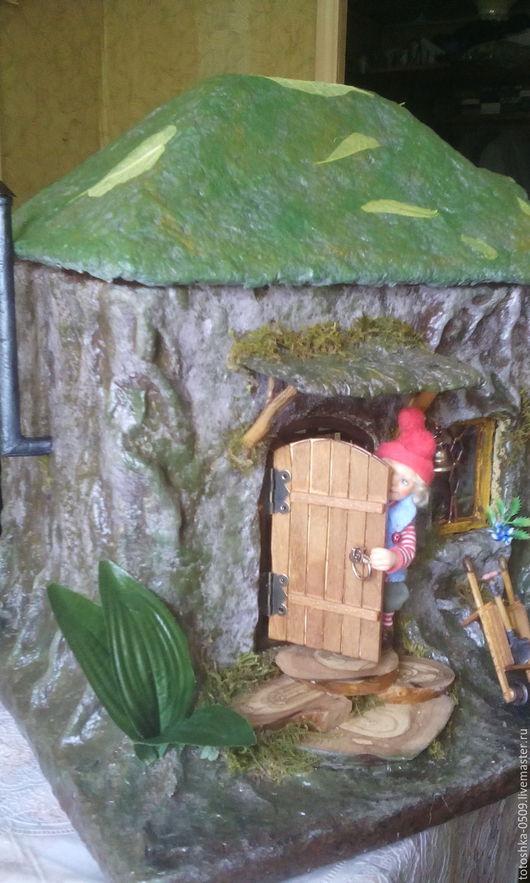 Кукольный дом ручной работы. Ярмарка Мастеров - ручная работа. Купить Домик для Гномика (кукольная миниатюра). Handmade. Коричневый