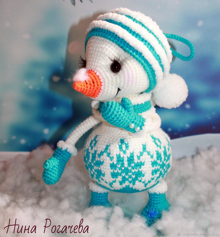 Игрушки: Зимняя сказка Снеговика. Снеговик вязаный, Мягкие игрушки, Кандалакша,  Фото №1