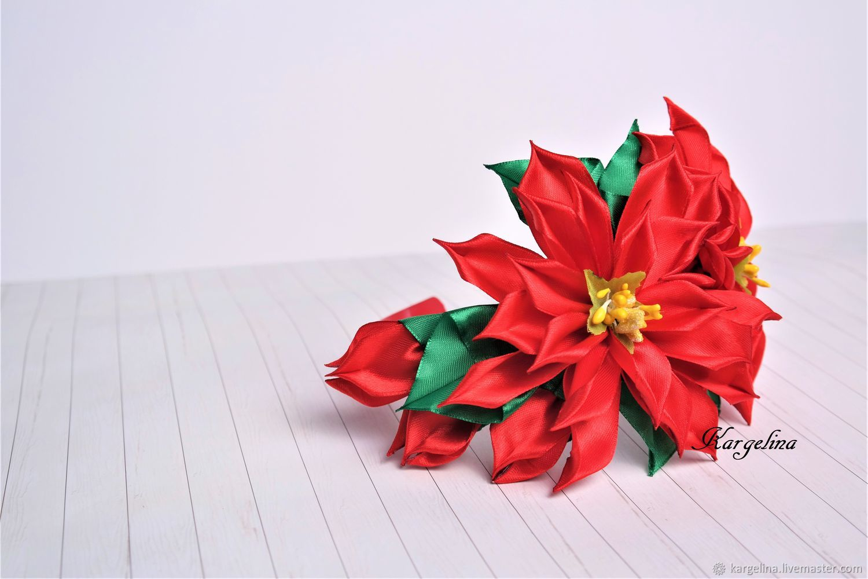 Red green ballet poinsettia hair hoop christmas girl flower hair kargelina kargelina kargelina kargelina kargelina mightylinksfo