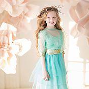 Работы для детей, handmade. Livemaster - original item Mint costume for girls. Handmade.
