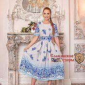 Одежда handmade. Livemaster - original item Dress in Russian style