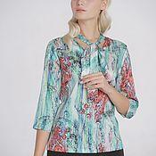 "Блузки ручной работы. Ярмарка Мастеров - ручная работа Шелковая блузка ""Мята"". Handmade."