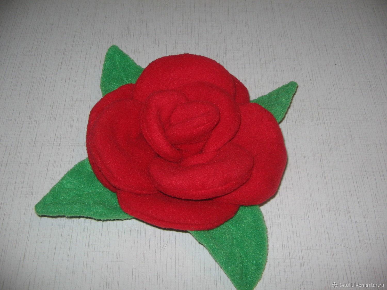 текстильная роза малая, Цветы, Москва,  Фото №1