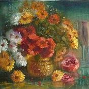 """Картины и панно ручной работы. Ярмарка Мастеров - ручная работа Картина """"Цветы для любимой"""" из серии """"Отражение"""". Handmade."""