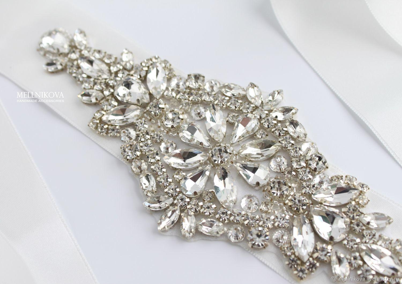"Пояс для свадебного платья ""Silver Shine"", Платья свадебные, Санкт-Петербург,  Фото №1"