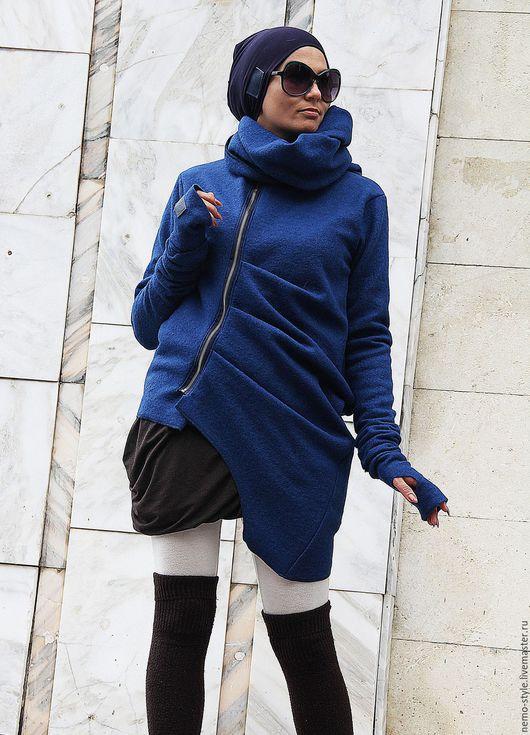 Верхняя одежда ручной работы. Ярмарка Мастеров - ручная работа. Купить Пальто NEMO BLAU. Handmade. Синий, спортивное